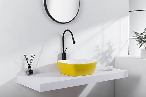 סדרת סול - כיור צהוב בשילוב לבן