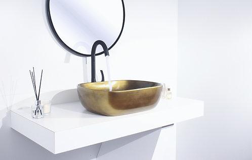 כיור זהב מרובע לאמבט