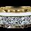 Thumbnail: כיור לבן מעוטר זהב לאמבט תוספת הכנה לברז
