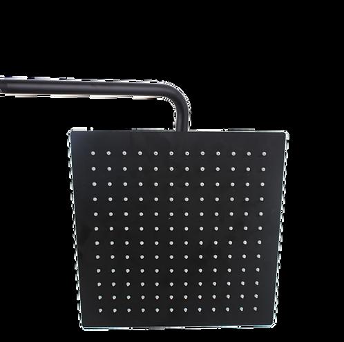 ראש מקלחת 30*30 מרובע בצבע שחור