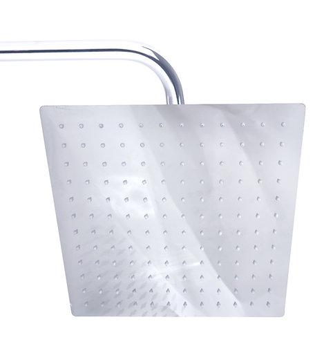 ראש מקלחת 30*30 מרובע בצבע ניקל