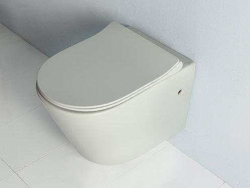 אסלה תלויה -עגולה בצבע לבן מבריק