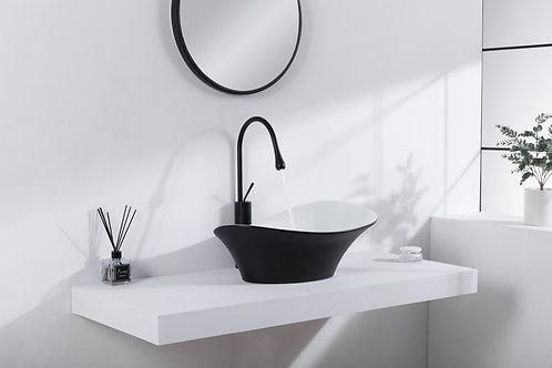 כיור מודרני שחור בשילוב לבן