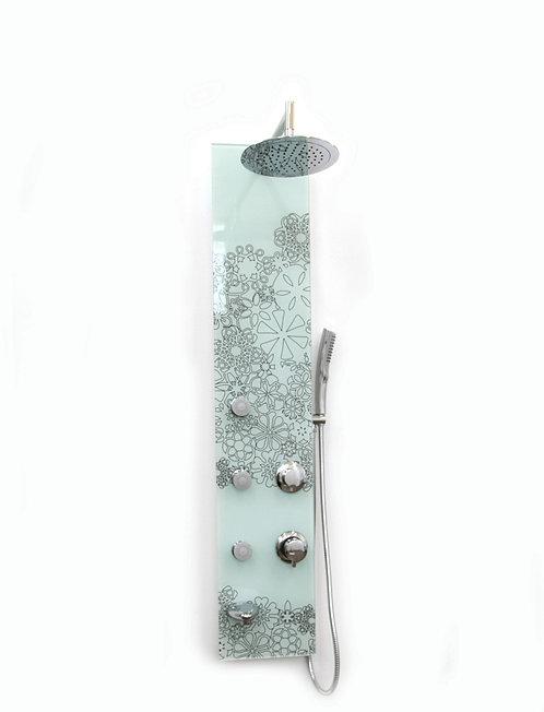 מערכת פינוק זכוכית לבנה מעוצב