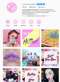 Instagram + Content WebDesign SOCIAL GRAPHIC PACKAGE - CreateFast.co Inspirational works with Unicorn Make up