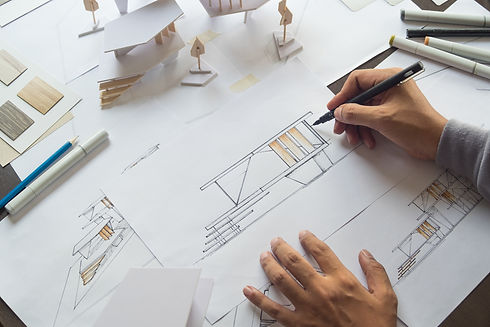 architect design working drawing sketch