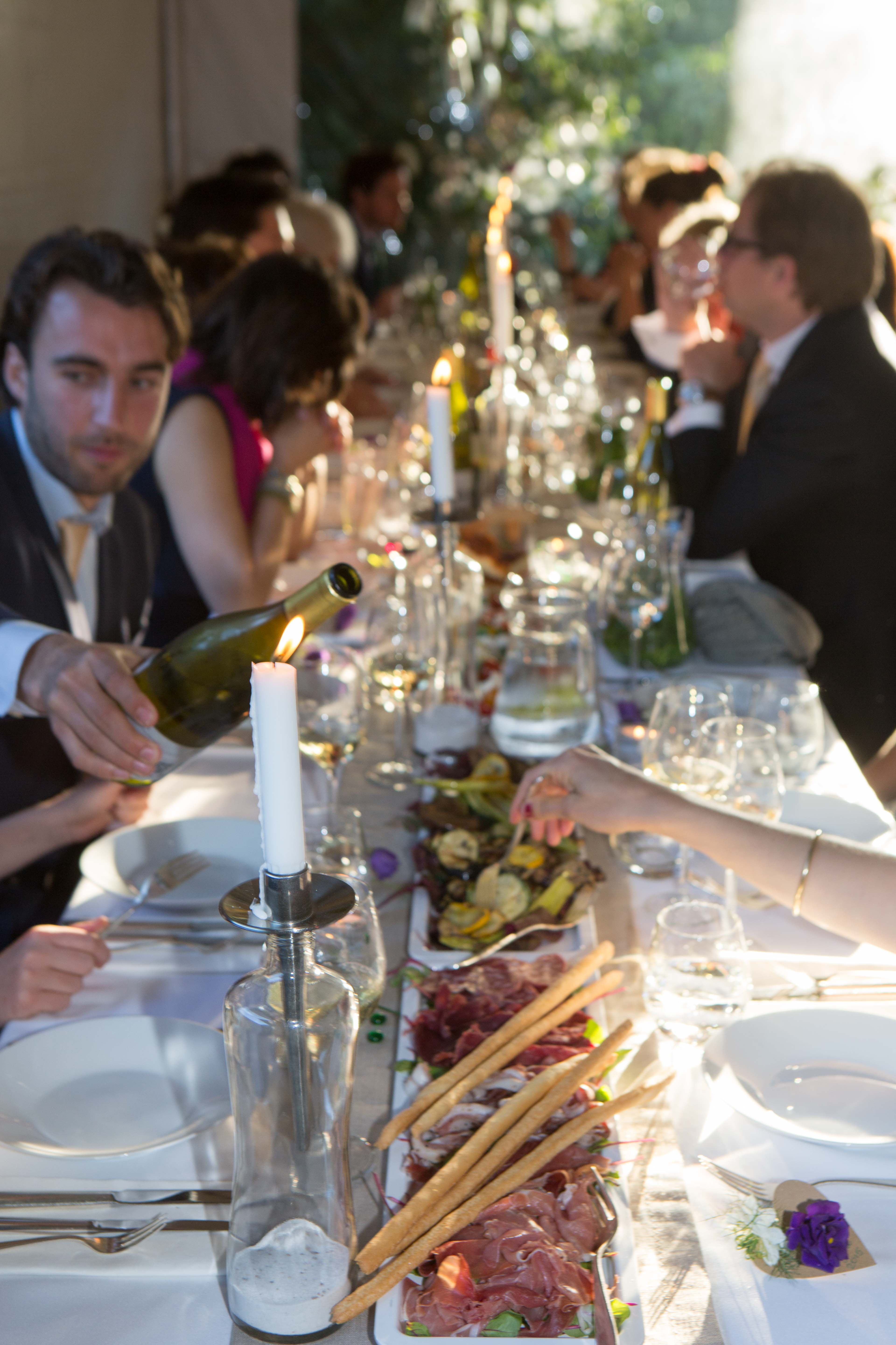 Garden shared dinner / 50 guests