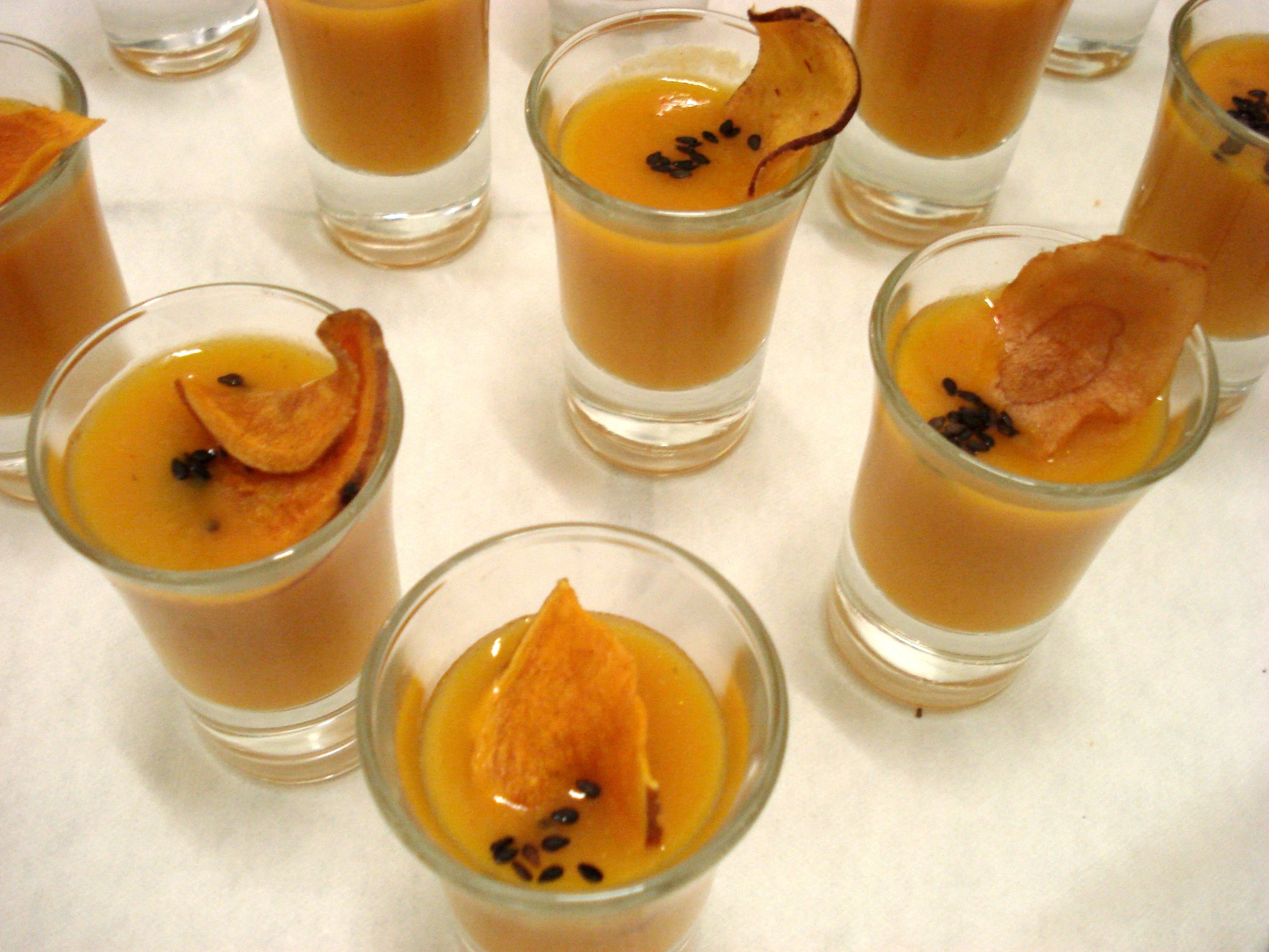 Orange appetizers / 50 guests