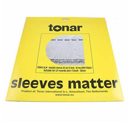 "Tonar Antistat Sleeves - 50 Capas Anti-estásticas Vinil LP 12"""