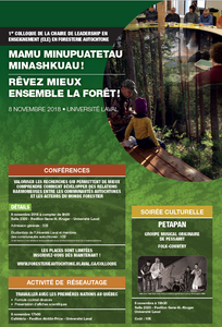 Affiche colloque foresterie autochtone