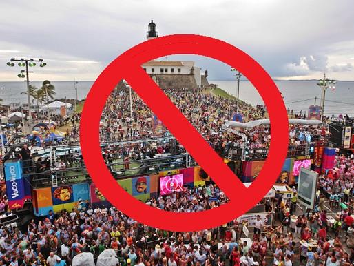 Estado e Prefeitura oficializam suspensão do Carnaval de Salvador