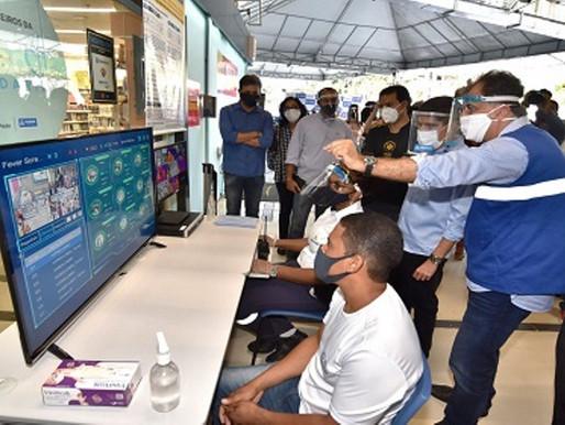 Câmaras medem temperatura das pessoas na Estação da Lapa