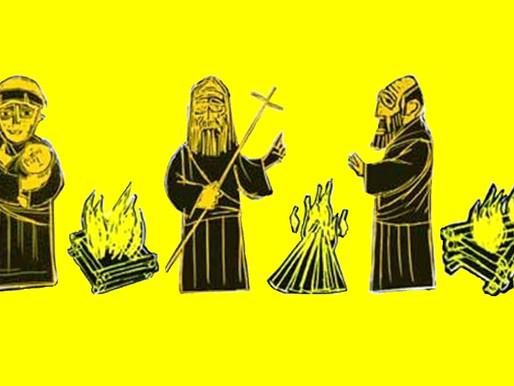 Curiosidade: cada santo junino tem um modelo de fogueira