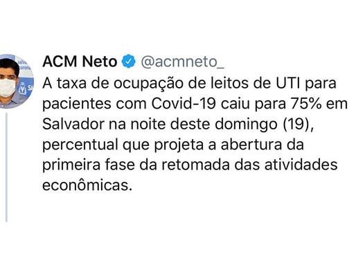 Taxa de ocupação em UTIs sinaliza início da reabertura