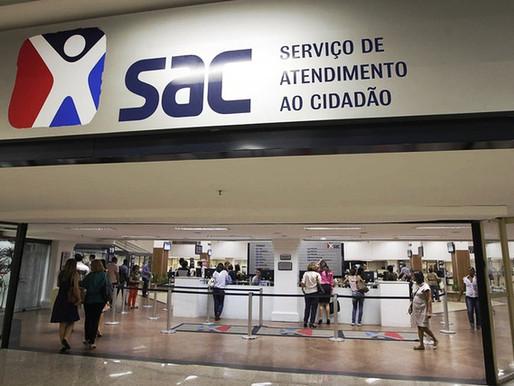 SACs prestam serviços essenciais com agendamento