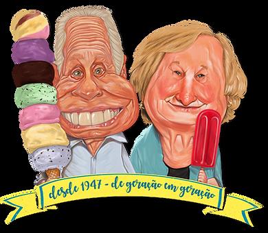 Angelim e Ermelinda em caricatura de Luiz Gustavo Paffaro