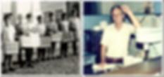 Meninos sorveteiros e Angelo Bertan em registros da década de 1970