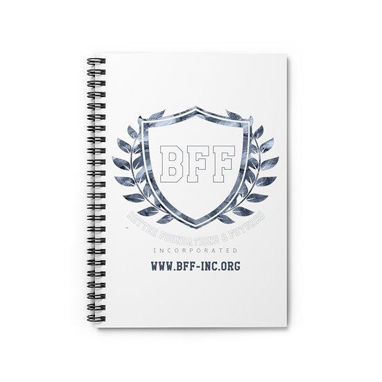 BF&F, Inc. Spiral Notebook (White)