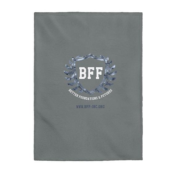 BF&F, Inc. Velveteen Plush Blanket (Gray)
