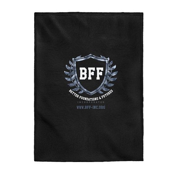 BF&F, Inc. Velveteen Plush Blanket (Black)