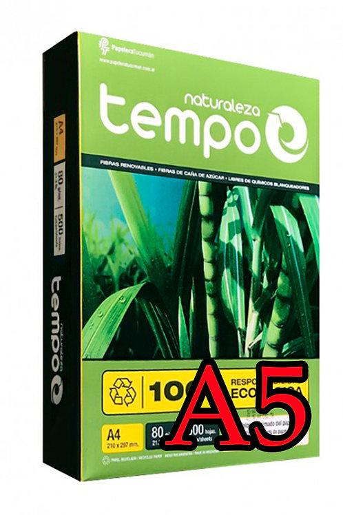 RESMA TEMPO NATURALEZA A5 DE 80 GR X 1000 HOJAS