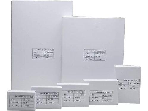 Pouch Plastificado 90x130 Mm 100 Unidades 150 Micrones