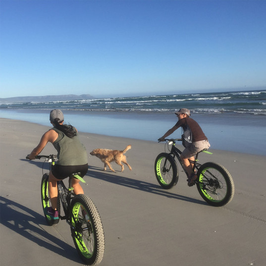 Fat Bike rides in Hermanus, explore South African beaches