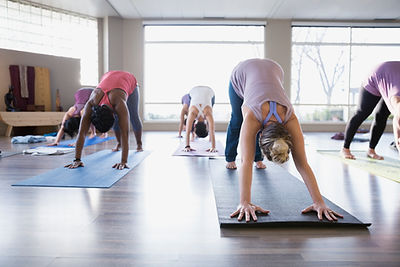Yoga Class - Downward Facing Dog