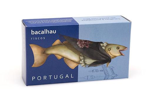 BACALHAU À PORTUGUESA EM AZEITE COM ALHO - RISCOS