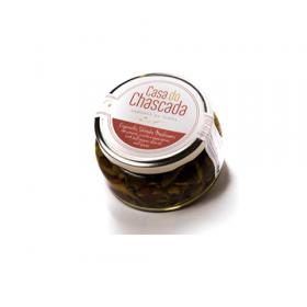 Cogumelos Shiitake com pimento em azeite e especiarias