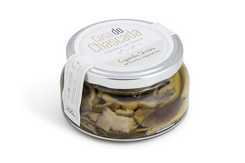Cogumelos Shiitake em azeite e especiarias