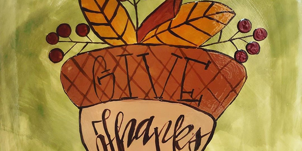Make & Take Night - Autumn Give Thanks Platter! 12th OR 17th OR 19th of November