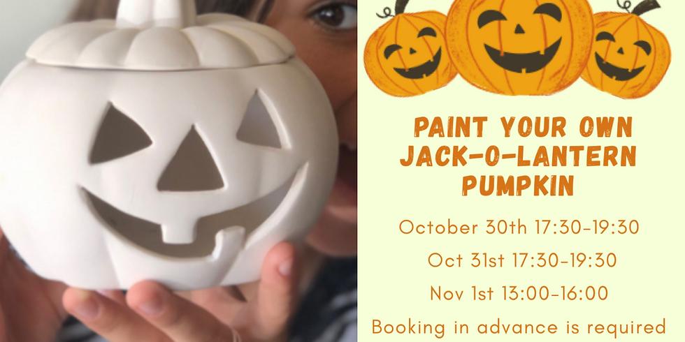 Paint Your own Jack-O-Lantern Pumpkin