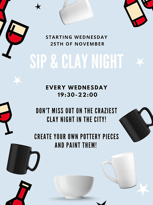 Sip & Clay Night