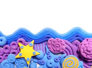 Sea. Colored decorative ornament, made i