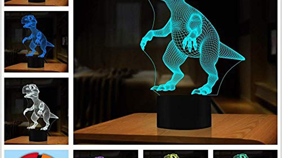 3D Dinosaur LED Lamp 7 Colors Touch Control Night Light