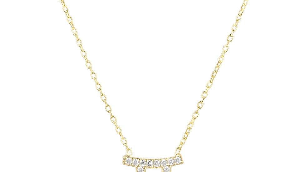 Zodiac Star Sign Pendant Necklace Gold Gemini