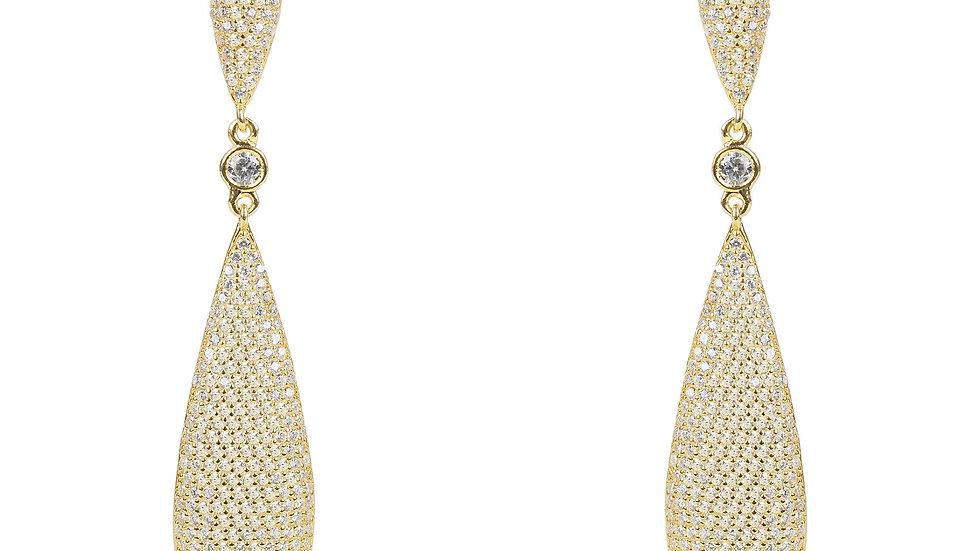 Latelita Coco`s Long Drop Earrings Gold