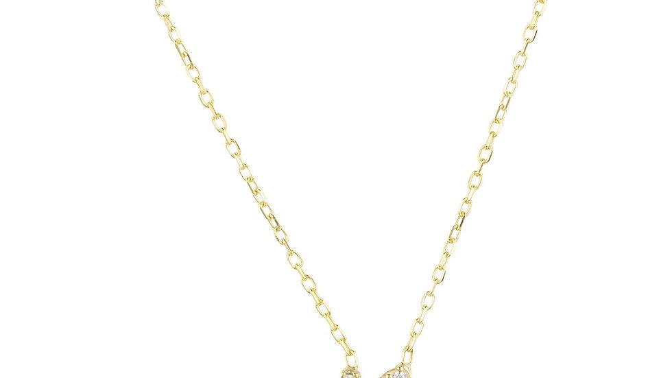 Zodiac Star Sign Pendant Necklace Gold Capricorn