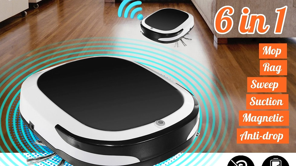 Rechargeable Smart Robot 2000PA Vacuum Cleaner Dry Wet Sweeping Cordless