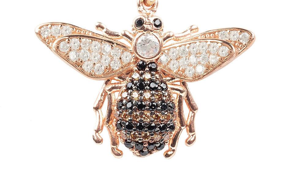 Honey Bee Pendant Necklace Rosegold