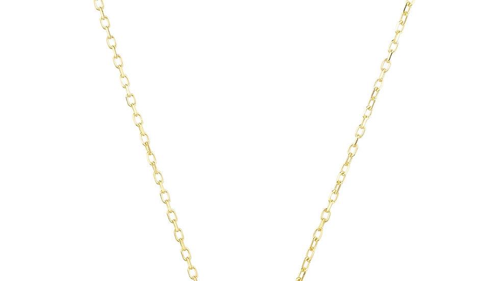 Zodiac Star Sign Pendant Necklace Gold Aquarius