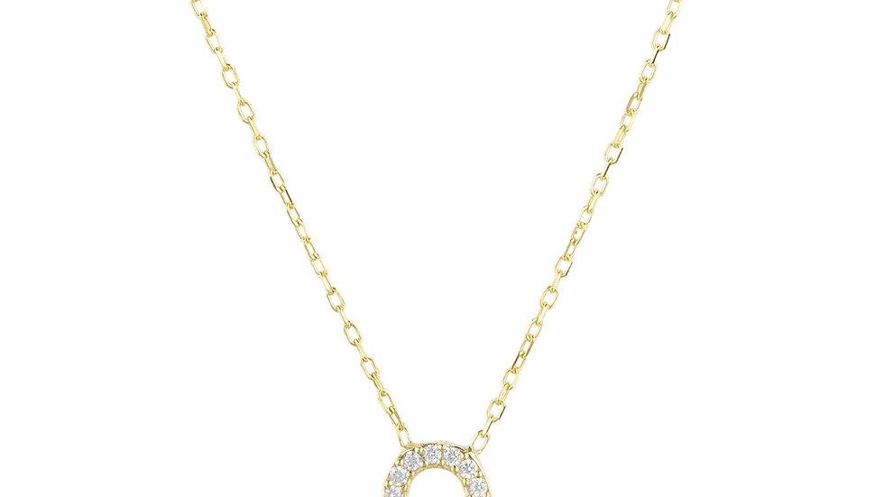 Zodiac Star Sign Pendant Necklace Gold Leo