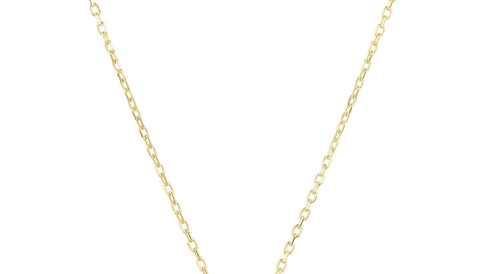 Zodiac Star Sign Pendant Necklace Gold Libra