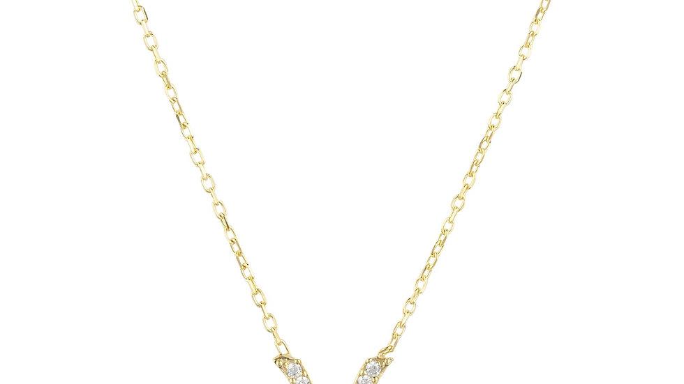 Zodiac Star Sign Pendant Necklace Gold Pisces