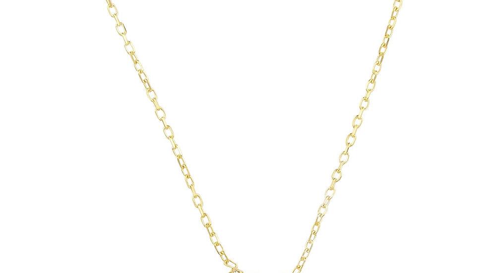 Zodiac Star Sign Pendant Necklace Gold Virgo