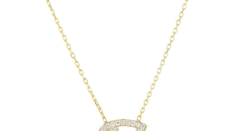 Zodiac Star Sign Pendant Necklace Gold Cancer