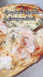 Spaghetti Squash Lasagna Boats with Herby Ricotta
