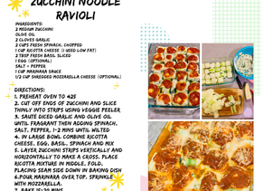 Zucchini Noodle Ravioli