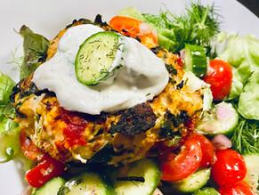 Greek Chicken Tzatziki Burgers